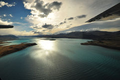 Lake Tekapo, New Zealand Landscape. From aerial view Royalty Free Stock Photo