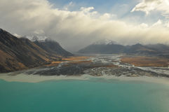 Lake Tekapo, New Zealand Landscape. From aerial view Royalty Free Stock Image