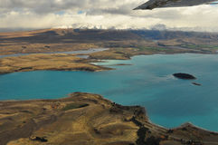 Lake Tekapo, New Zealand Landscape. From aerial view Stock Photography