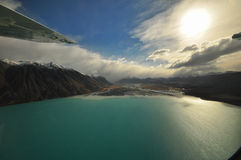 Lake Tekapo, New Zealand Landscape. From aerial view Royalty Free Stock Photos