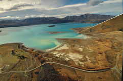 Lake Tekapo, New Zealand Landscape. From aerial view Royalty Free Stock Photography