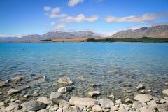 Lake Tekapo New Zealand in Summer Stock Image