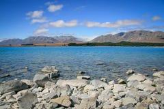 Lake Tekapo New Zealand in Summer Royalty Free Stock Image
