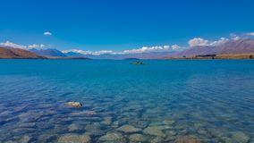 Lake Tekapo in New Zealand royalty free stock photography
