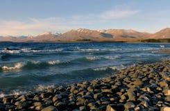 Lake Tekapo Shoreline. Royalty Free Stock Photos