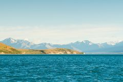 Lake Tekapo South island New Zealand with Mt.Cook. Natural landscape background royalty free stock photos