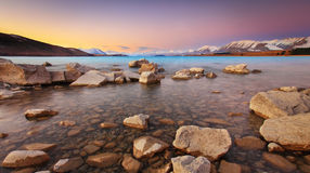 Lake Tekapo Sunset Stock Photography