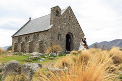 Lake Tekapo weddings, New Zealand Stock Photography