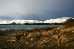 Lake Tekapo in Winter Stock Photos