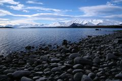 Lake Tekapo in Winter Stock Photography
