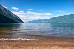 Lake Teletskoye Royalty Free Stock Photo