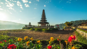 Lake Temple Bali Blue Dawn Sky - Pura Ulun Danu Bratan Royalty Free Stock Photo