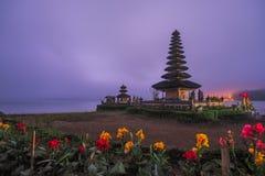 Lake Temple Bali Blue Dawn Sky - Pura Ulun Danu Bratan Stock Photos
