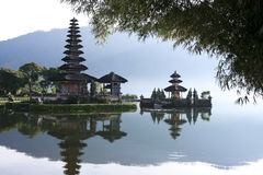 Lake bratan hindu temple bali indonesia Royalty Free Stock Photography