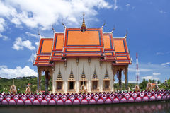 Lake temple big buddha temple chaweng ko samui Royalty Free Stock Image