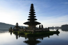 Lake temple dawn bali indonesia Stock Images