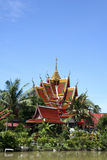 Lake temple koh samui thailand Stock Photography