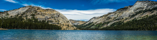 Lake Tenaya Panorama Stock Photo