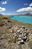 Lake Tepako cairn Royalty Free Stock Images