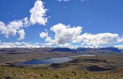 Lake Tepako walk panorama Stock Photo