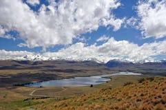 Lake Tepako walk Royalty Free Stock Photos