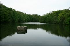 Lake in Maksimir. Third Maksimir Lake. The third lake is located west of the First and Second Lakes, and was built in 1911. Initially it was partially supplied royalty free stock images