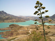Lake Embalse de Zahara el Gastor, Spain Stock Photo