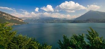 Lake Thun Interlaken Panorama Stock Images