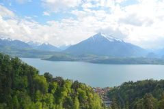Lake Thun With Niesen Royalty Free Stock Photos