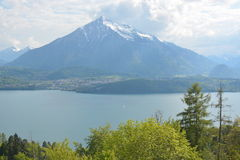 Lake Thun With Niesen Royalty Free Stock Images