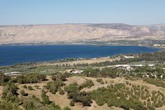 Lake Tiberias Stock Photography