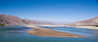 Lake in tibet, China Royalty Free Stock Images