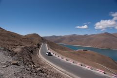 Lake in tibet, China Royalty Free Stock Photo
