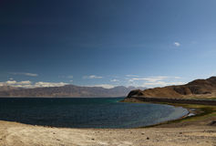 Pangong Lake in Tibet Royalty Free Stock Photos