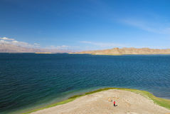 Pangong Lake in Tibet Stock Photography