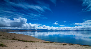 Lake in Tibet plateau like a mirror Royalty Free Stock Images