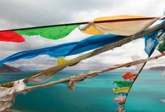 The Bamu lake in Tibet Royalty Free Stock Image