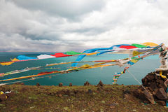 The Bamu lake in Tibet Royalty Free Stock Photos