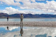 Namtso Lake in Tibet Stock Photography