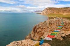 Siling Lake in Tibet Royalty Free Stock Image