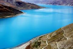 Lake in tibet stock photo