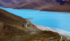 Lake in tibet Royalty Free Stock Image