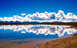 Lake of the Tibetan Plateau Stock Photography