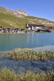 Lake of Tignes in France Stock Images