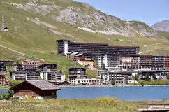 Lake of Tignes in France Stock Photography