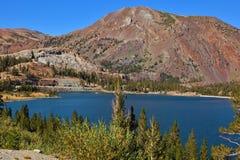 Lake Tioga  in Yosemite park Royalty Free Stock Image