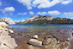 The Lake Tioga in the Yosemite Park Royalty Free Stock Photo