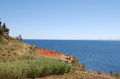 Lake Titicaca Agriculture Royalty Free Stock Photo