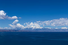 Lake Titicaca and the Andes, Bolivia Stock Image