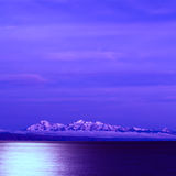 Lake Titicaca and the Andes at Full Moon Royalty Free Stock Images